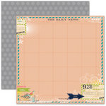 Pink Paislee - House of Three - Daily Junque Collection - 12 x 12 Double Sided Paper - News