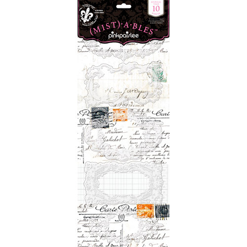 Pink Paislee - Mistables Collection - Journal Tags with Resist