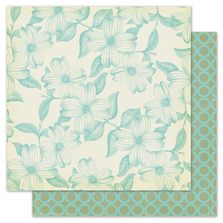 Pink Paislee - Nantucket Collection - 12 x 12 Double Sided Paper - Clam Chowder