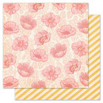 Pink Paislee - Nantucket Collection - 12 x 12 Double Sided Paper - Oyster Bar