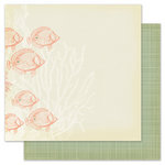 Pink Paislee - Nantucket Collection - 12 x 12 Double Sided Paper - Lobster Bisque
