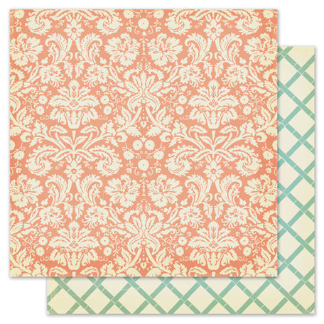 Pink Paislee - Nantucket Collection - 12 x 12 Double Sided Paper - Clam Bake