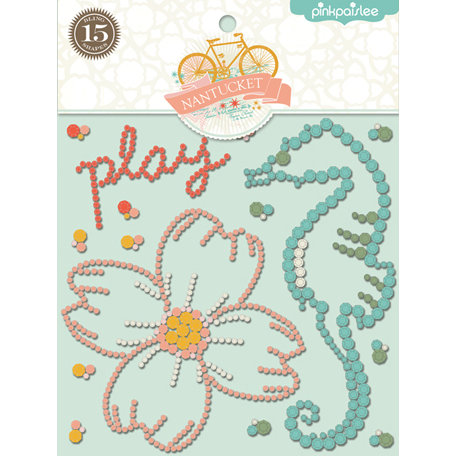 Pink Paislee - Nantucket Collection - Bling Stickers