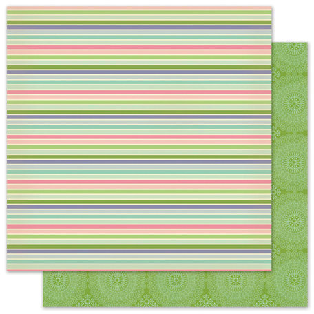 Pink Paislee - Vintage Vogue Collection - 12 x 12 Double Sided Paper - Taffeta