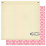 Pink Paislee - Vintage Vogue Collection - 12 x 12 Double Sided Paper - Corner Boutique