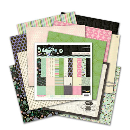 Pink Paislee - Vintage Vogue Collection - 6 x 6 Petite Paper Pack