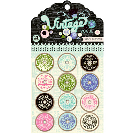 Pink Paislee - Vintage Vogue Collection - Spool Buttons