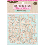 Pink Paislee - Wood Shop Collection - Wood Pieces - Alphabet - Wood Chip