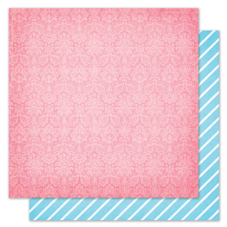 Pink Paislee - Snow Day Collection - Christmas - 12 x 12 Double Sided Paper - Hot Cocoa