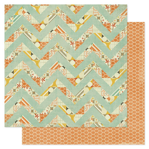 Pink Paislee - Prairie Hills Collection - 12 x 12 Double Sided Paper - Flight Pattern