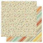 Pink Paislee - Prairie Hills Collection - 12 x 12 Double Sided Paper - Country Meadow