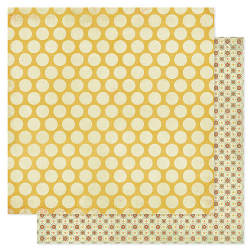 Pink Paislee - Prairie Hills Collection - 12 x 12 Double Sided Paper - Sun Spot