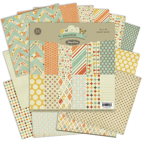 Pink Paislee - Prairie Hills Collection - 12 x 12 Paper Pack