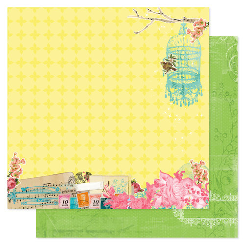 Pink Paislee - Spring Jubilee Collection - 12 x 12 Double Sided Paper - Bash