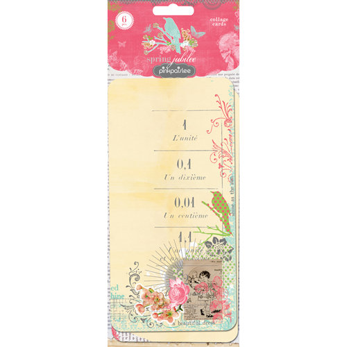 Pink Paislee - Spring Jubilee Collection - Collage Cards