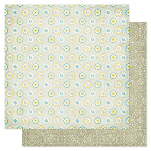 Pink Paislee - Indigo Bleu Collection - 12 x 12 Double Sided Paper - Poplin