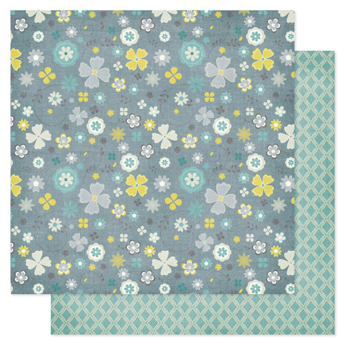 Pink Paislee - Indigo Bleu Collection - 12 x 12 Double Sided Paper - Tweed