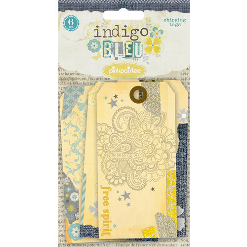 Pink Paislee - Indigo Bleu Collection - Shipping Tags