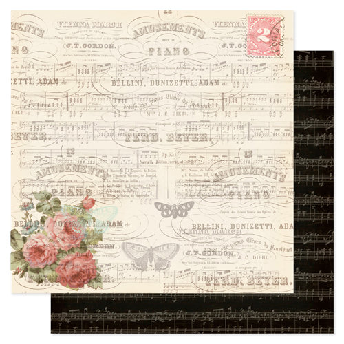 Pink Paislee - London Market Collection - 12 x 12 Double Sided Paper - Kensington