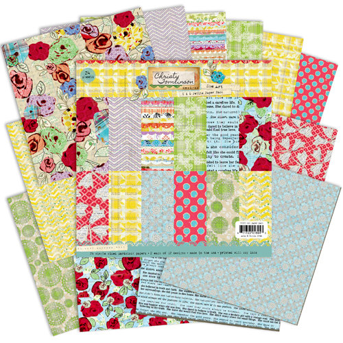 Pink Paislee - She Art Collection - 6 x 6 Petite Paper Pack