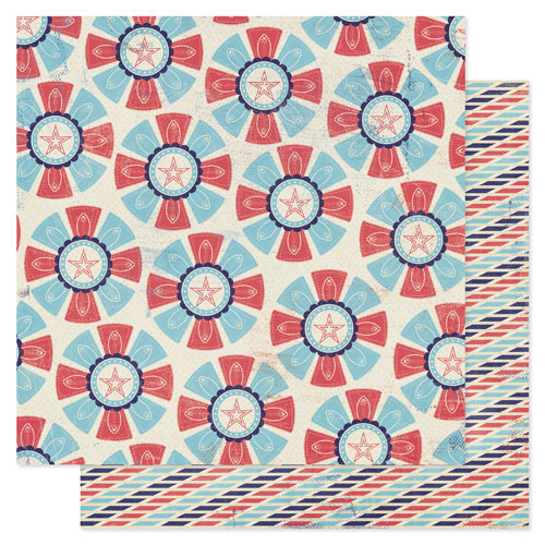 Pink Paislee - Declaration Collection - 12 x 12 Double Sided Paper - Pinwheel