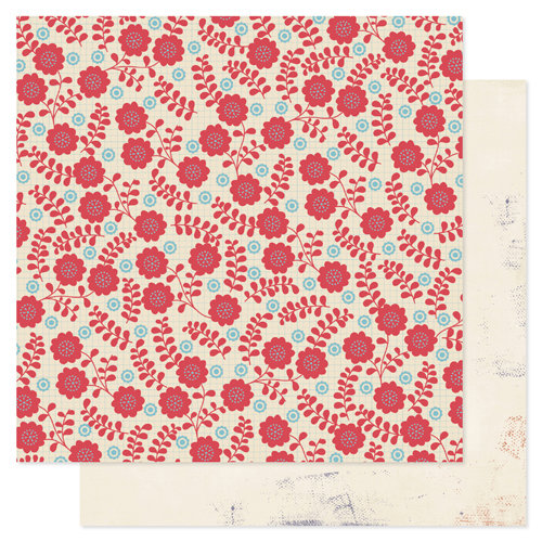 Pink Paislee - Declaration Collection - 12 x 12 Double Sided Paper - Windsock