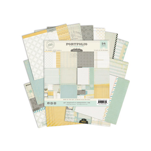 Pink Paislee - Portfolio Collection - 6 x 6 Petite Paper Pack