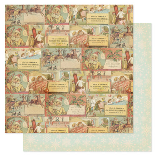 Pink Paislee - City Sidewalks Collection - Christmas - 12 x 12 Double Sided Paper - Special Delivery