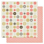Pink Paislee - City Sidewalks Collection - Christmas - 12 x 12 Double Sided Paper - Candy Shoppe