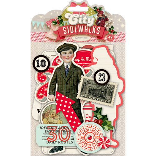 Pink Paislee - City Sidewalks Collection - Christmas - Ephemera Pack