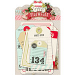 Pink Paislee - City Sidewalks Collection - Christmas - Parcel Tags