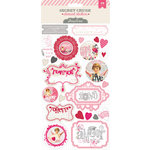 Pink Paislee - Secret Crush Collection - Cardstock Stickers - Elements