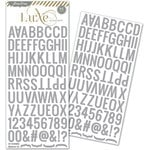 Pink Paislee - Luxe Collection - Glitter Sticker - Alphabet - Silver