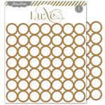 Pink Paislee - Luxe Collection - 8 x 8 Metallic Chipboard Place Mat - Circles