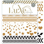 Pink Paislee - Luxe Collection - Foil Rub Ons - Confetti - Copper and Black
