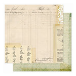 Pink Paislee - Hope Chest Collection - 12 x 12 Double Sided Paper - Heirlooms