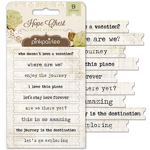 Pink Paislee - Hope Chest Collection - Cardstock Stickers - Labels
