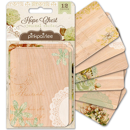 Pink Paislee - Hope Chest Collection - 3 x 4 Journal Cards