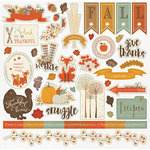 Photo Play Paper - Autumn Day Collection - 12 x 12 Cardstock Stickers - Elements