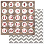 Photo Play Paper - Dear Santa Collection - Christmas - 12 x 12 Double Sided Paper - Countdown