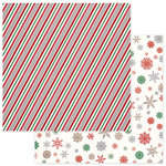 Photo Play Paper - Dear Santa Collection - Christmas - 12 x 12 Double Sided Paper - Candy Cane