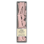 Pressed Petals - Chip Chatter - Tall Chipboard Letters - 2.5 inches - Pink