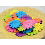Prima - E Line - Daisy Delicacies Collection - Flower Embellishments - Mixed Bright