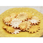 Prima - E Line - Daisy Delicacies Collection - Flower Embellishments - Caramel