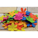 Prima - E Line - Celebrations Collection - Flower Embellishments - Assorted Bright