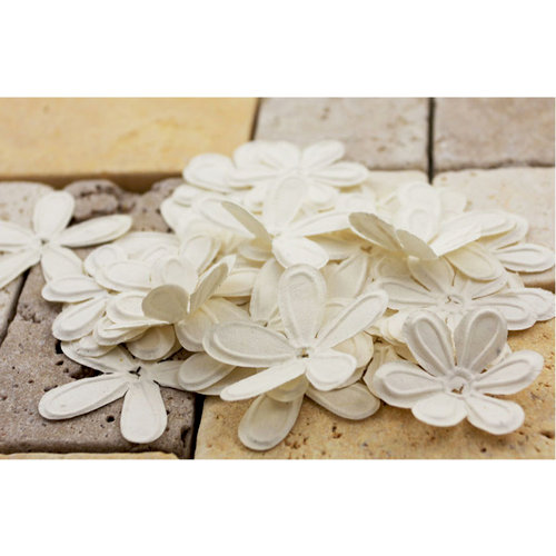 Prima - E Line - Celebrations Collection - Flower Embellishments - White
