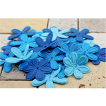 Prima - E Line - Celebrations Collection - Flower Embellishments - Bright Blue