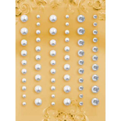 Prima - E Line - Self Adhesive Pearls and Crystals - Bling - Assortment 1, CLEARANCE