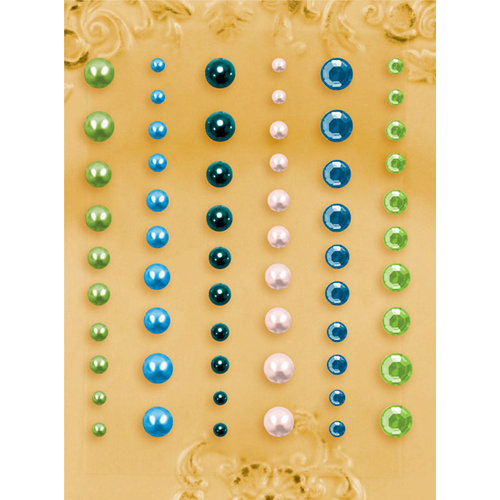 Prima - E Line - Self Adhesive Pearls and Crystals - Bling - Assortment 24