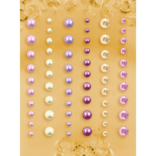 Prima - E Line - Self Adhesive Pearls and Crystals - Bling - Assortment 27
